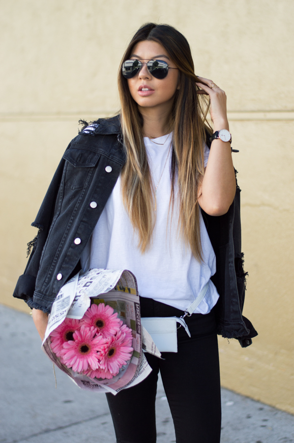 White Belt Bag / Fashion Blogger Linh Winn