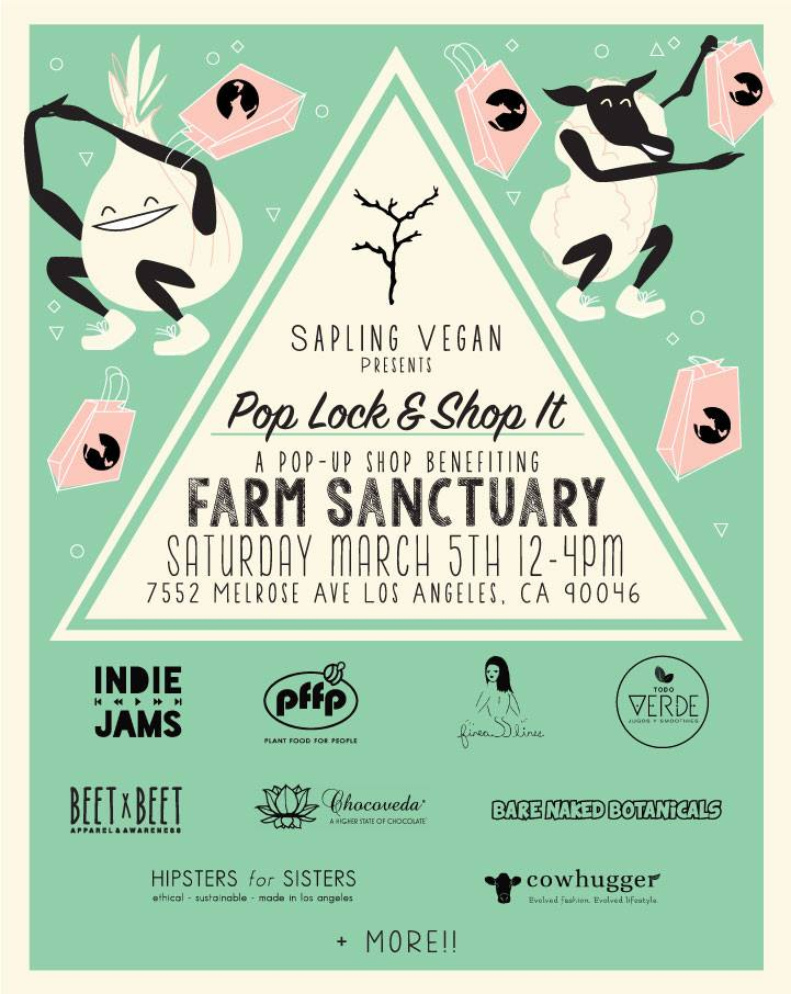 Farm Sanctuary Pop-Up - Saturday, March 5