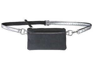 Small Sport Bum Bag in Charcoal & Silver