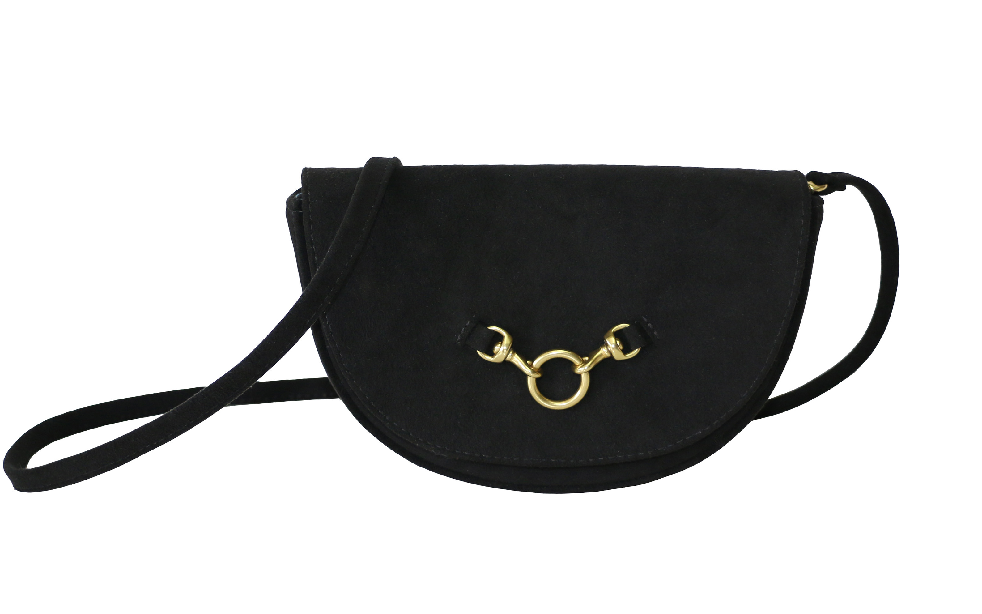 Half Moon Convertible Crossbody in Black