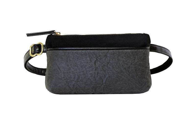 Pocket Belt Bag In Black Piñatex