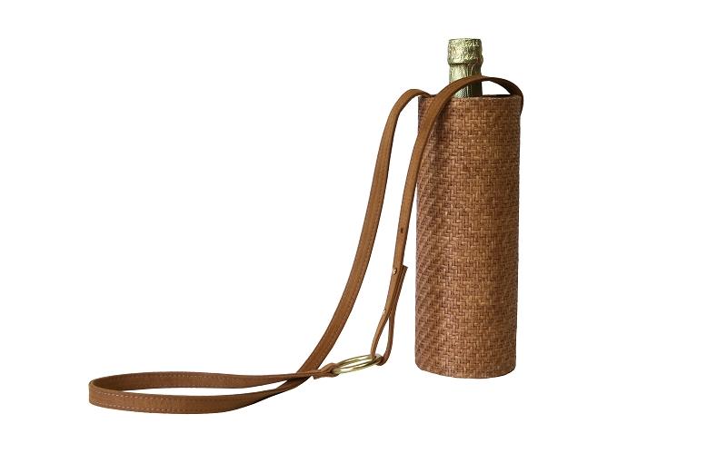 Water Wine Bottle Bag In Meadow
