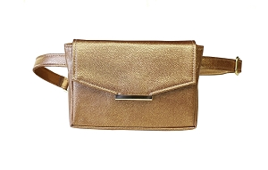 Convertible Belt Bag in Bronze (Chain and Belt)