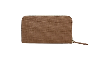 Convertible Wallet in Camello Raffia