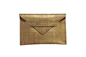 Card Case in Gold Cork
