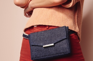 Convertible Belt Bag in Indigo Hemp