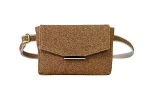 Convertible Belt Bag in Gold Flecked Cork