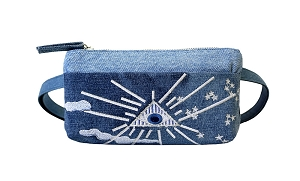 Mind's Eye Vintage Denim Pocket Bum Bag