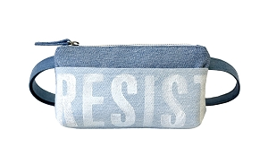 RESIST Pocket Bum Bag in Upcycled Vintage Denim