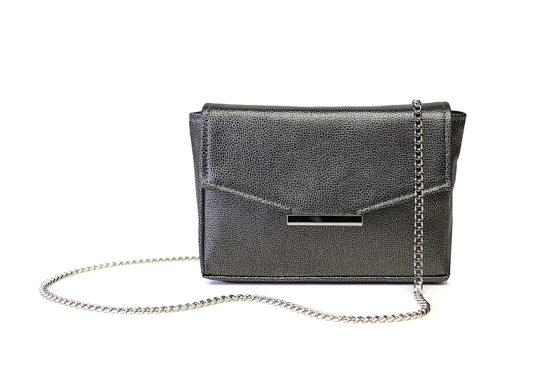 Convertible Belt Bag in Gunmetal (Chain and Belt)