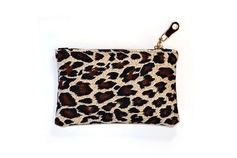 Zip Pouch in Leopard