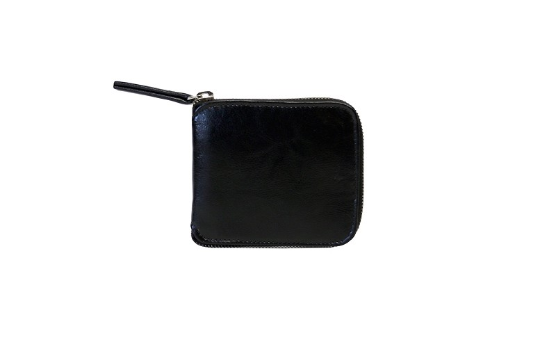 Small Zip Around Wallet in Black (online exclusive)
