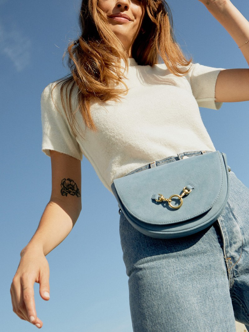 Half Moon Convertible Crossbody in Ocean Blue