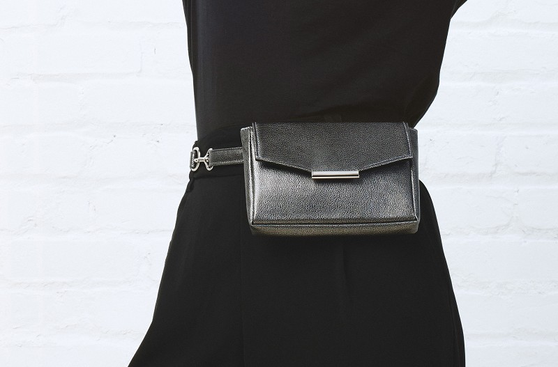 Convertible Belt Bag in Gunmetal