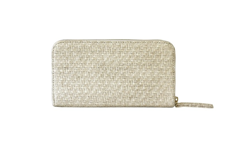 Convertible Wallet in White Sand