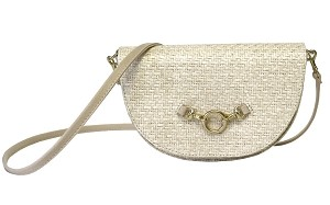 Half Moon Convertible Crossbody in White Sand